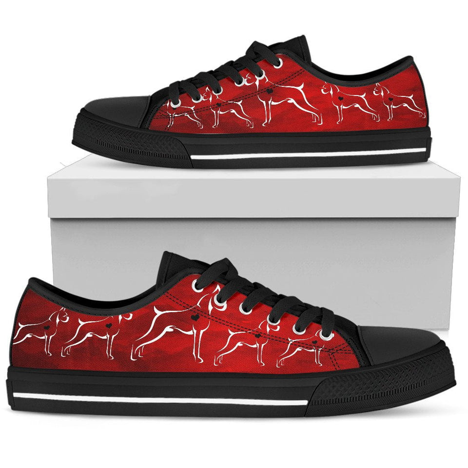 Boxer Red Love Women's Low Top Shoe