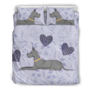 I Love Great Danes Bedding Set