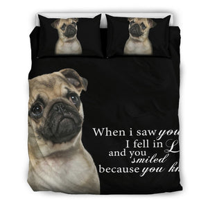 Pug - When I saw you... Bedding Set