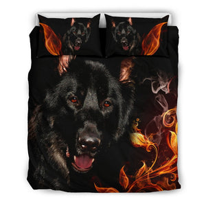 Black German Shepherd Bedding Set