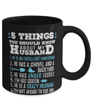 Funny wife mug from husband - 5 things you should know about my husband