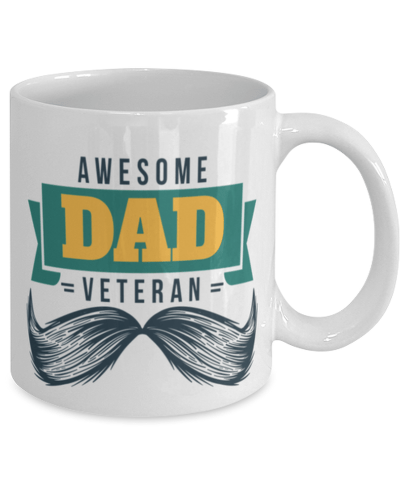 Awesome veteran dad mug