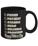 Happy Father's day appreciation tick box mug - Funny fathers day