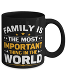 Family is the most important thing in the world mug