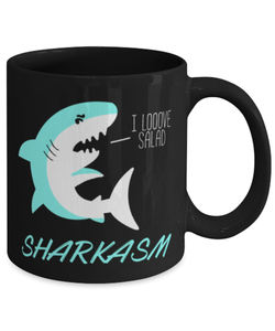 Funny shark sarcasm 11oz coffee mug cup - Save sharks - Shark birthday