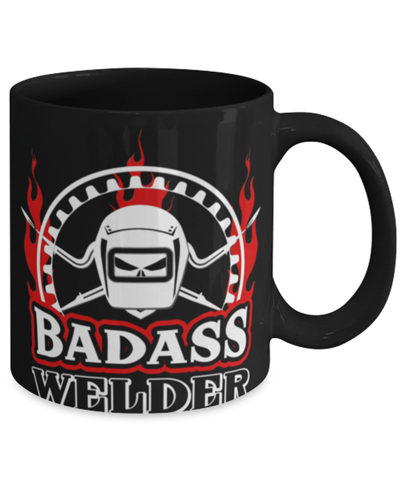 "Funny welder mug "" Badass Welder"" - Welding - Welder mugs - Dad welder - 11oz coffee mug - Christmas stocking filler"