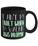 "Song lyric mug - ""When I'm walkin jaws droppin"" - Little red wagon - Miranda Lambert fans - 11oz coffee mug - Christmas stocking filler"