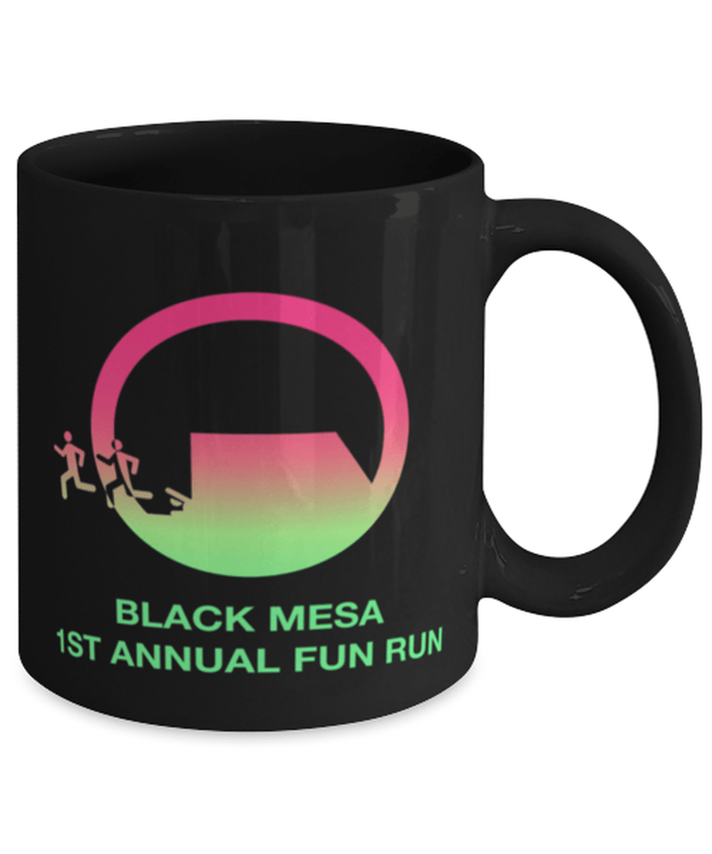 Black Mesa Fun Run Mug - Half Life - Research Facility - Bmrf - Aperture Labs - Alyx Vance