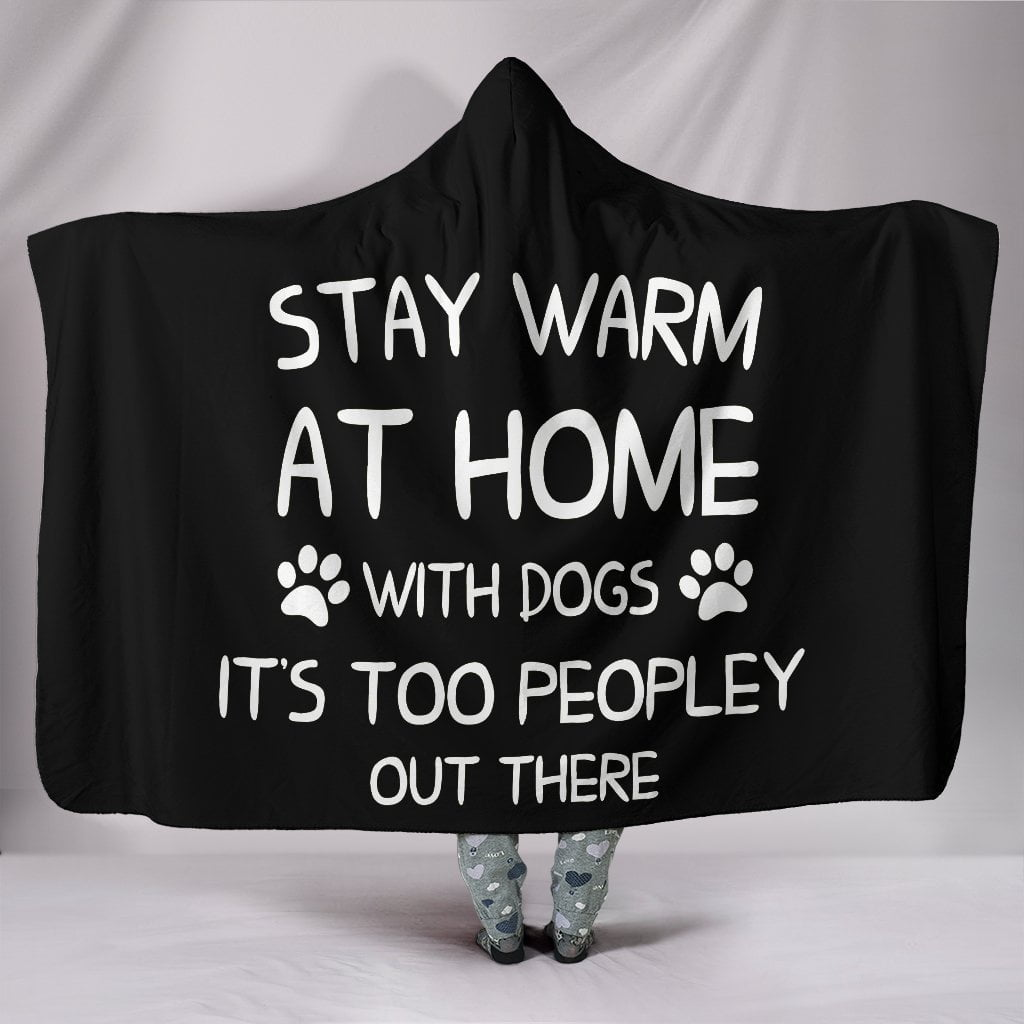 Stay warm at home with dogs Hooded Blanket
