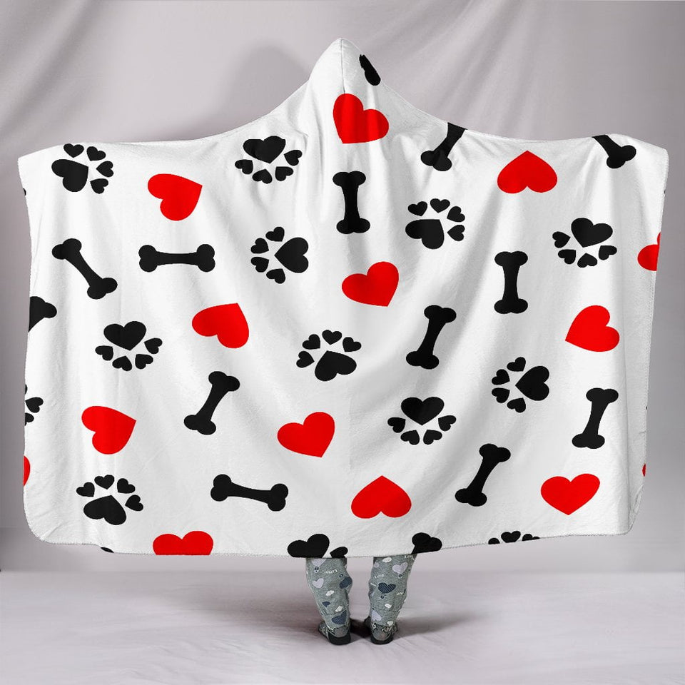 Dog Love Hooded Blanket