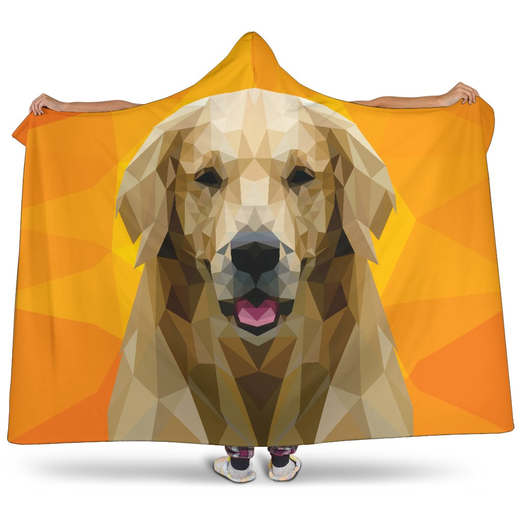 Labrador Retrievers Modern Art Hooded Blanket