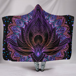 Lotus Flow Hooded Blanket