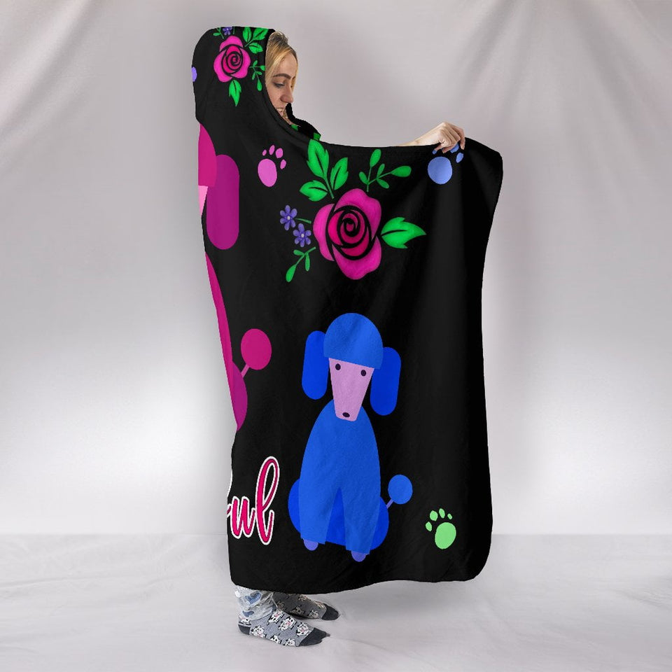Faithful Poodles Hooded Blanket Cute Poodle Dogs