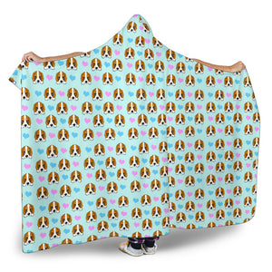 Dog Hearts Hooded Blanket