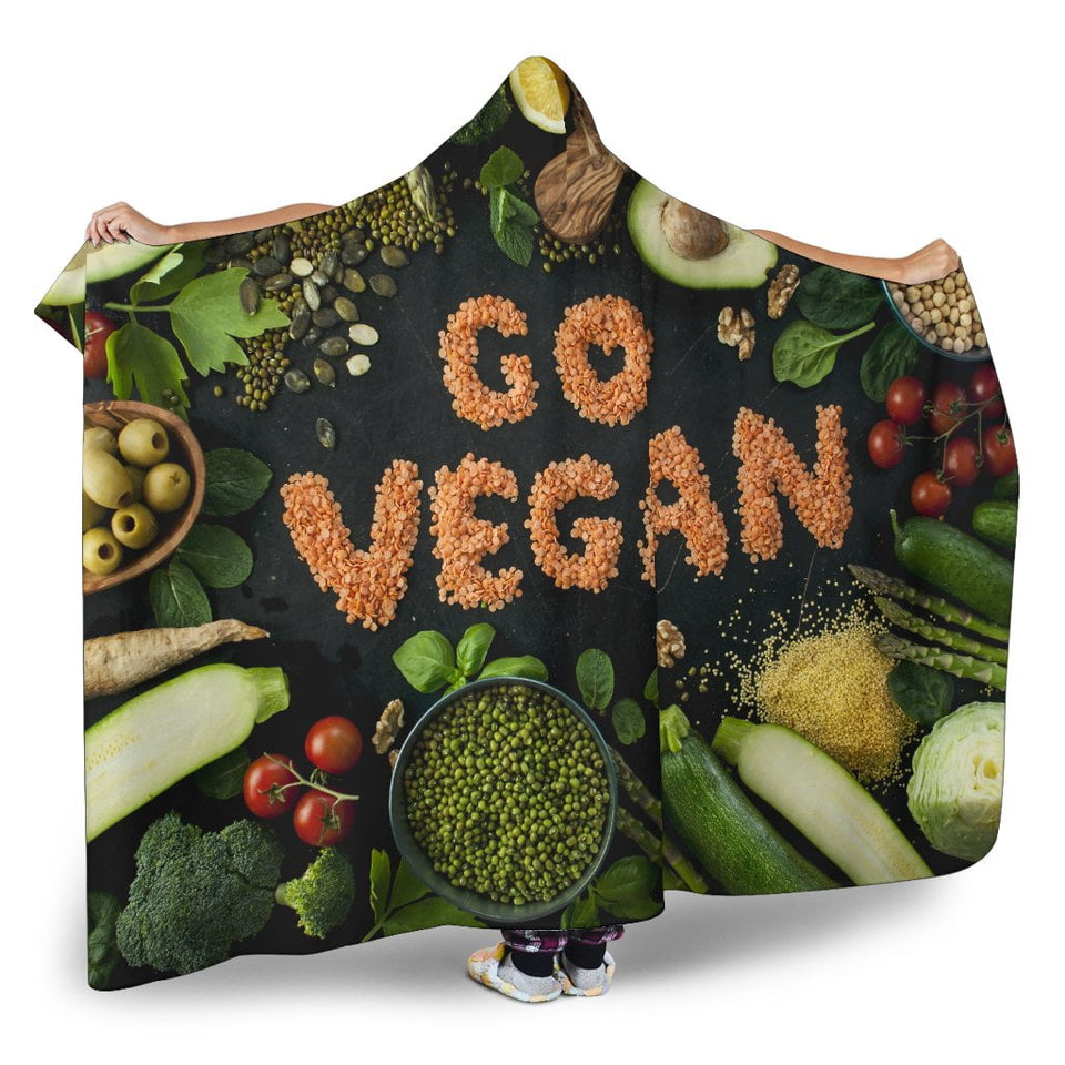 Go Vegan Hooded Blanket