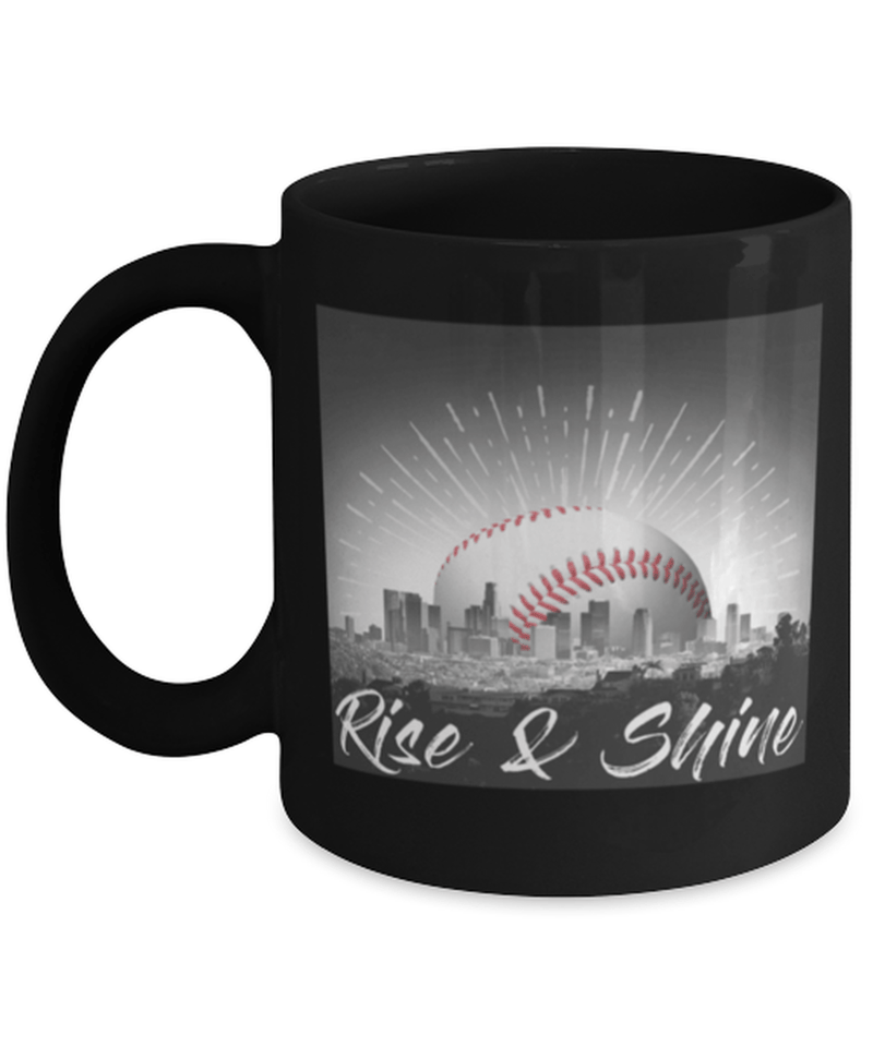 Rise and shine baseball coffee mug cup 11oz