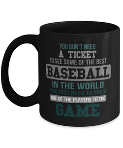 Proud Baseball Parents Mom/Dad Funny Coffee Mug Cup 11oz - You don