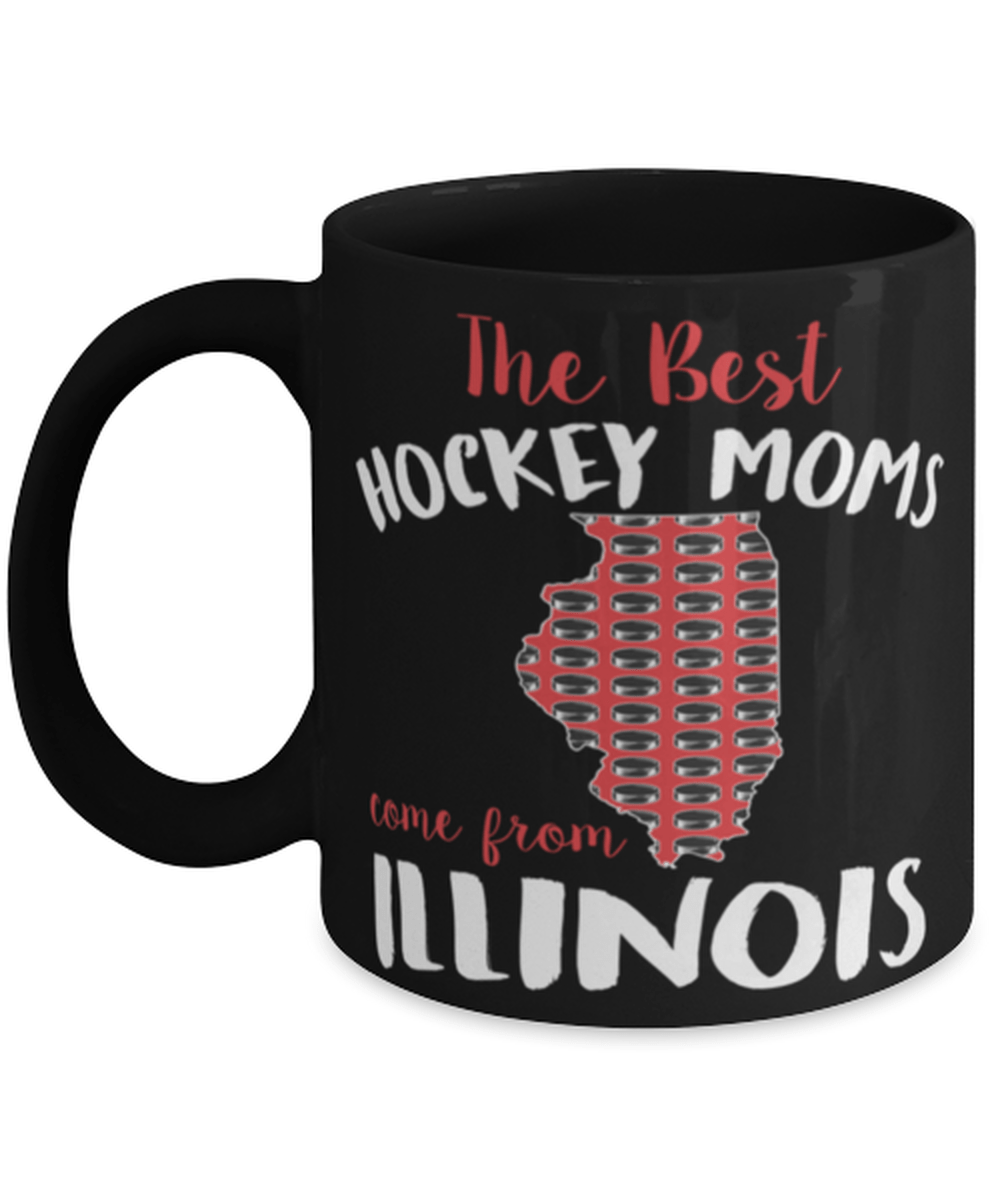 Funny Illinois hockey mom mug