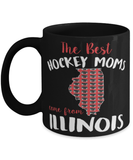 "Funny Illinois hockey mom mug ""The best hockey moms"" - Blackhawks hockey - Chicago Blackhawks - 11oz coffee mug - christmas stocking filler - Black Friday sale"