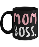 "Funny Mom mug ""Mom Boss"" - Mom cup - Boss coffee mug - Mom entrepeneur - 11oz cofee mug - Christmas stocking filler"