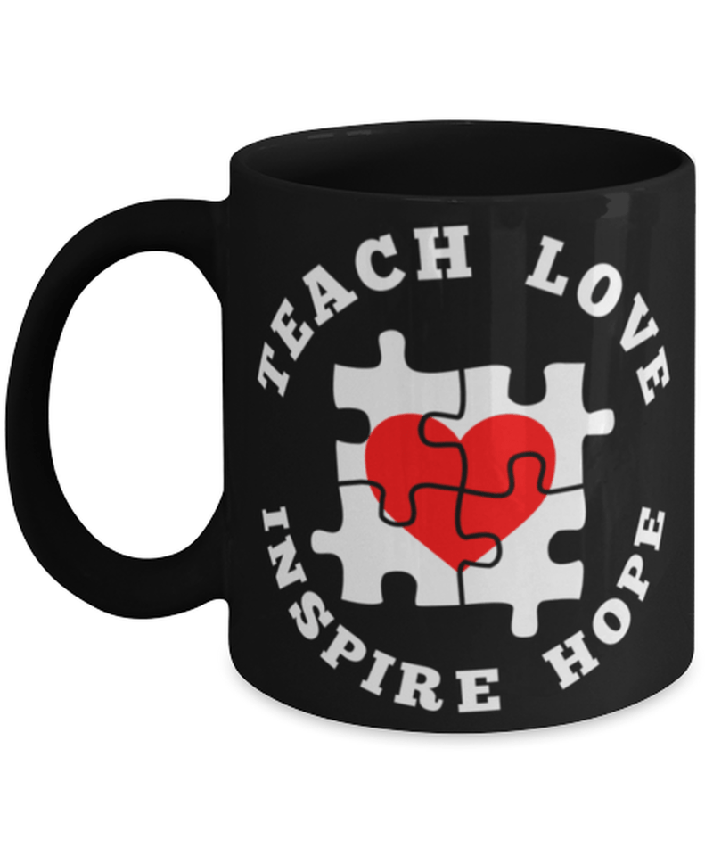 "Teaching mug ""Teach love inspire hope"" - Teaching quotes - Teacher life mug - 11oz coffee mug - Christmas stocking filler"