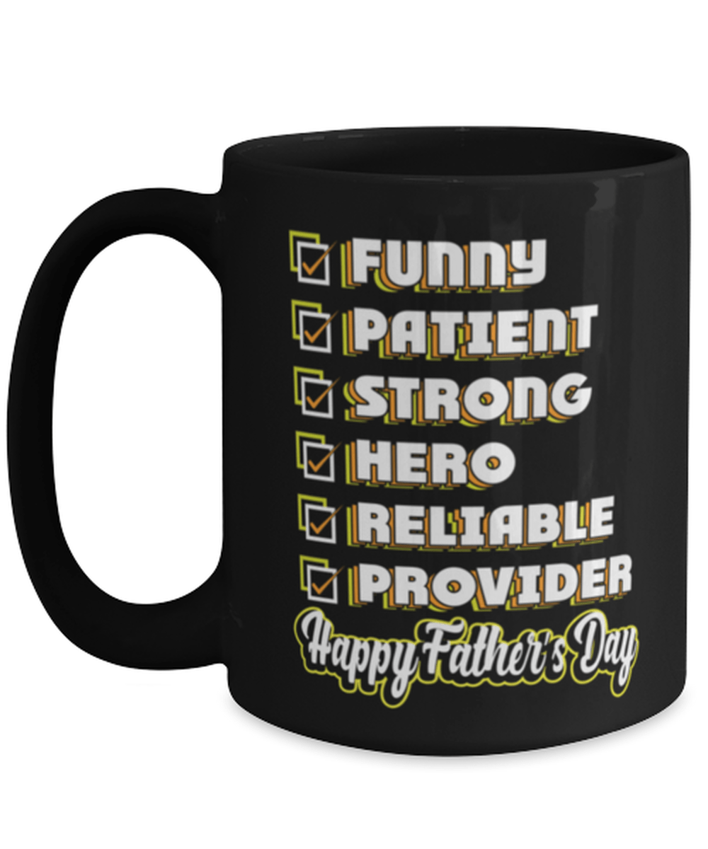 Happy Father's day appreciation tick box mug - Funny fathers day - From son - From kids - 15oz coffee mug