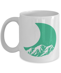 Retro 80s Crescent Moon Mountain Mug - Mountains Mug - Star and Moon Cup - Mothers Day Gift - Housewarming Gift