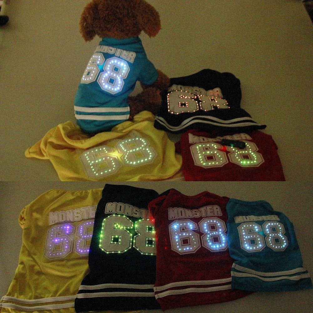 LED Football Shirt For Small Dogs
