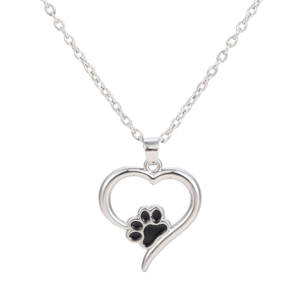 Chic Heart Paw Necklace