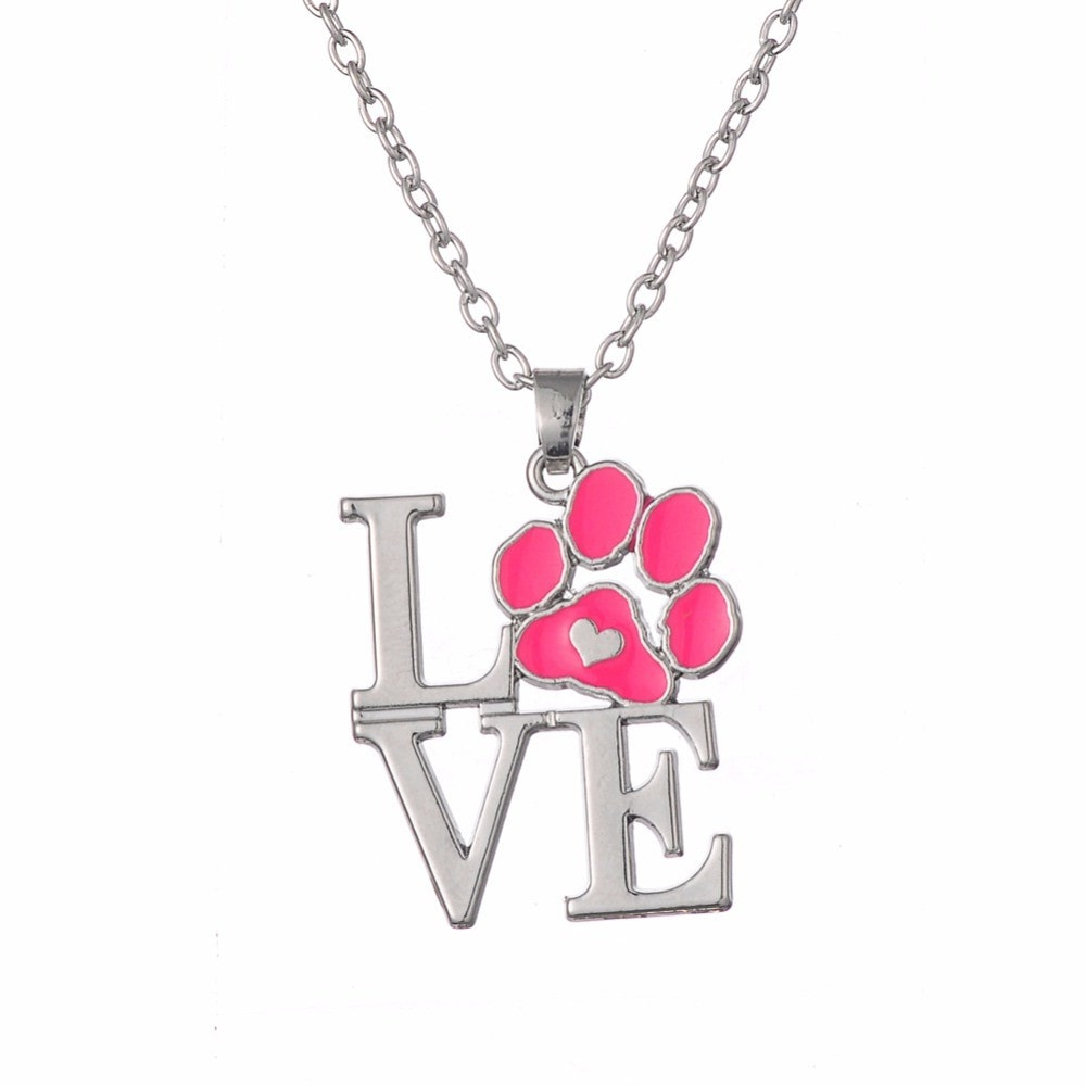 Love Paw Print Necklace