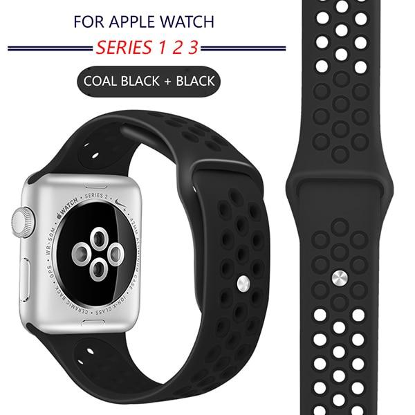Breathable Silicone Sports Band for Apple Watch 1234