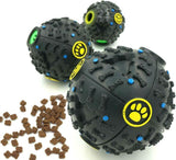 Cute Dog Toy Ball with Squeaky Sound and Food Dispenser