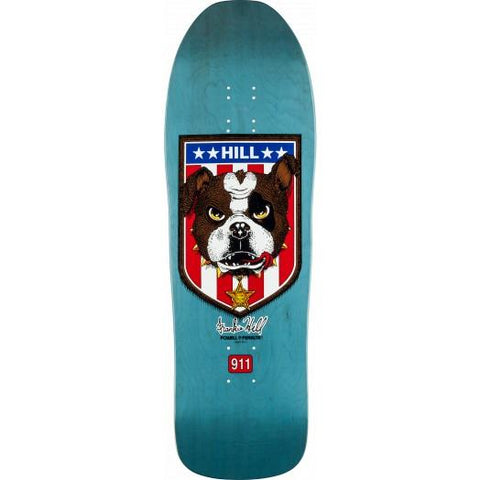 Powell Peralta -  Frankie Hill Bulldog Reissue Skateboard Deck Blue - 10 x 31.5