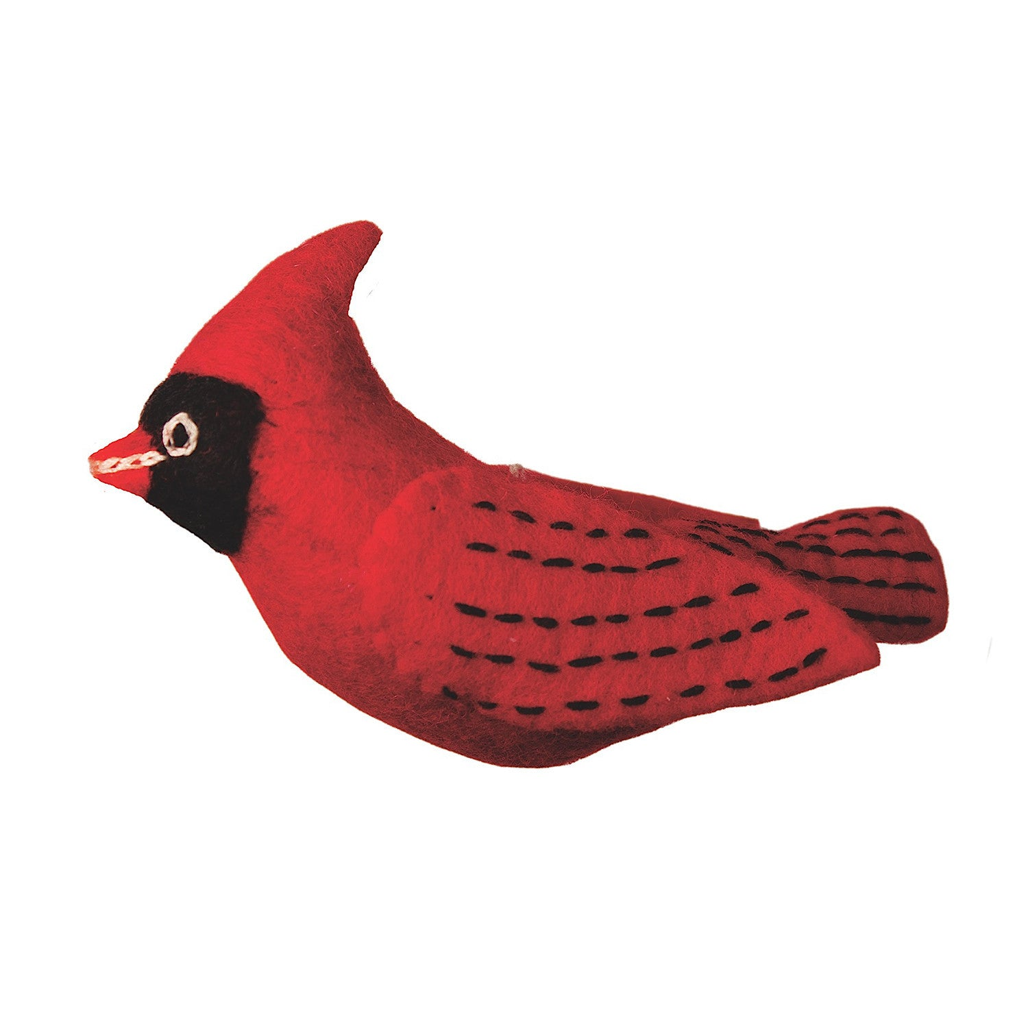 Felt Bird Garden Ornament - Cardinal Handmade and Fair Trade