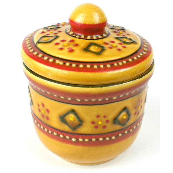 Hand-painted Sugar Bowl in Red