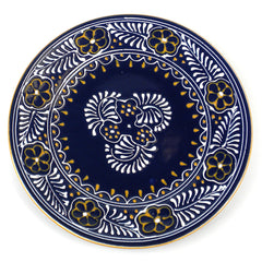 Round Plate - Blue Handmade and Fair Trade