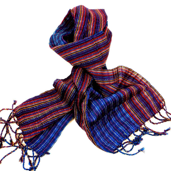 San Antonio Scarf - Purple/Blue