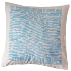 Blue Dashes Pillow Cover 16 by 16