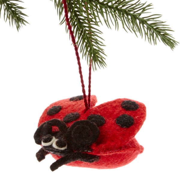 Ladybug Felt Holiday Ornament