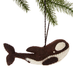 Orca Felt Holiday Ornament