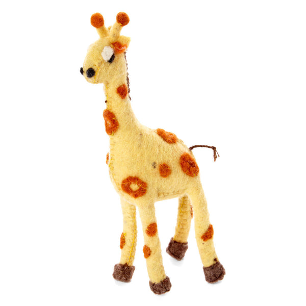 Giraffe Felt Holiday Ornament
