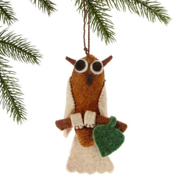 Owl Felt Holiday Ornament