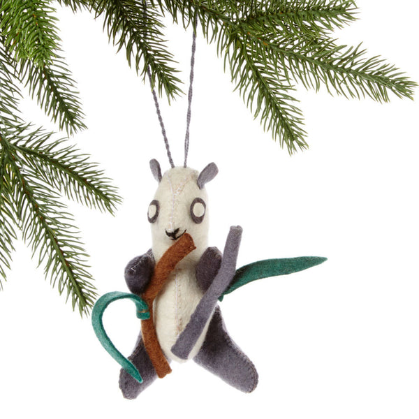 Panda Felt Holiday Ornament