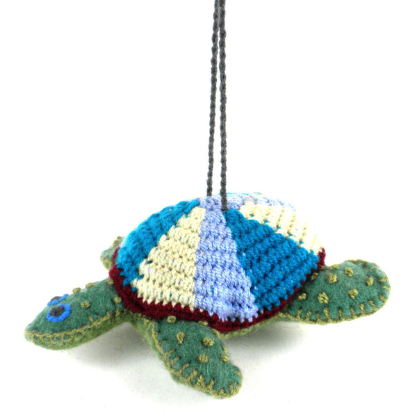 Turtle Felt Holiday Ornament