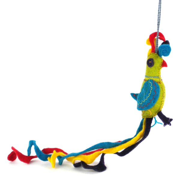 Parrot Felt Holiday Ornament