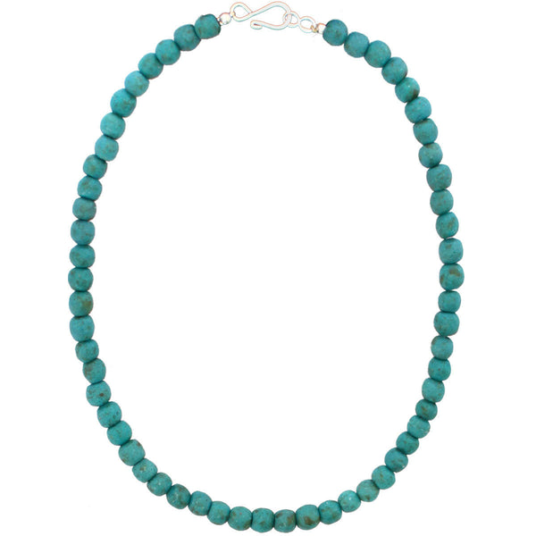 Recycled Glass Necklace Teal