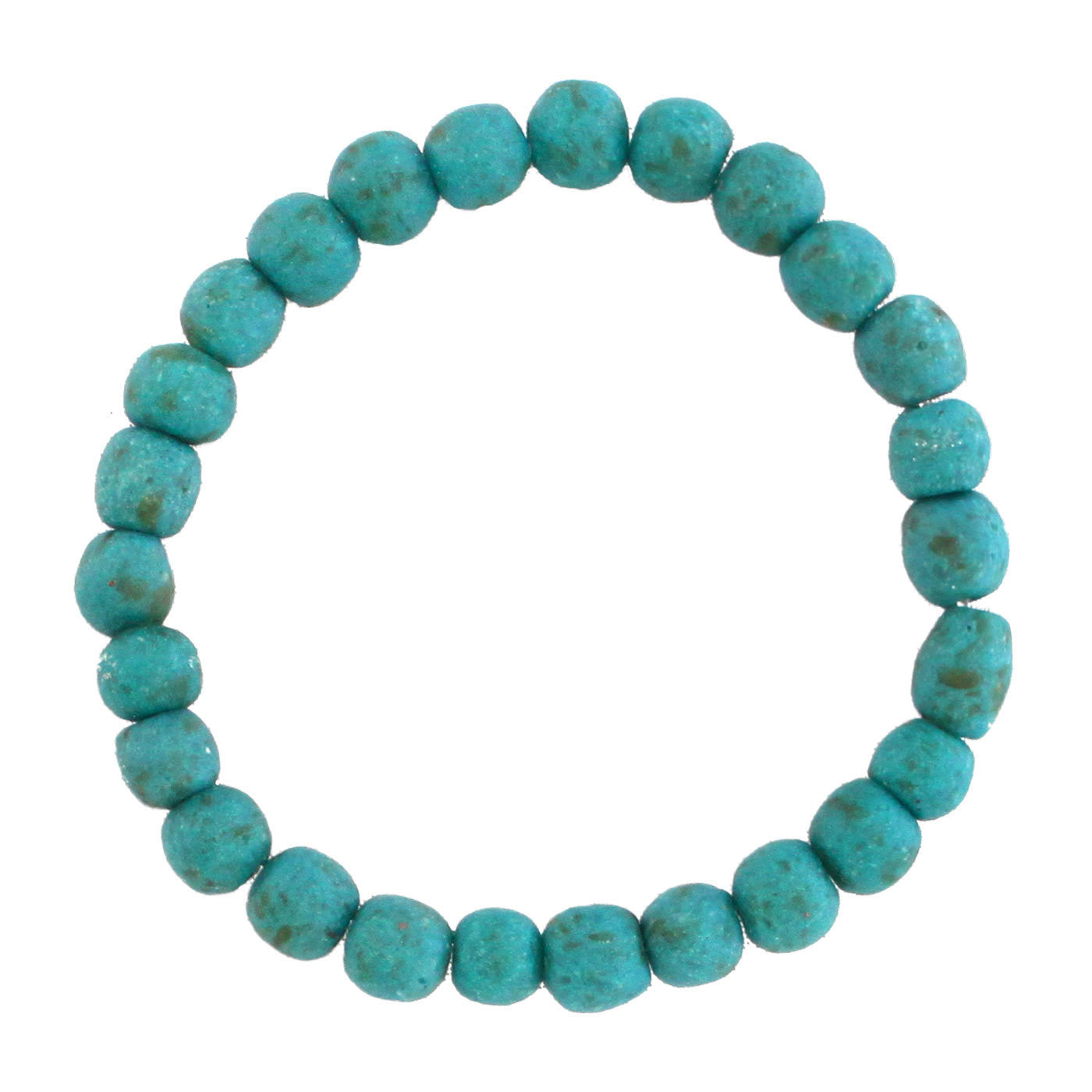 Recycled Glass Bead Bracelet Teal