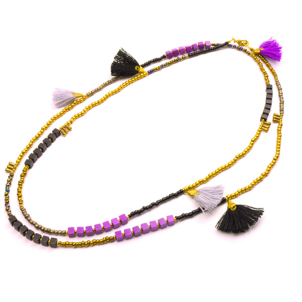 Kerala 3-in-1 Necklace Midnight - Global Groove