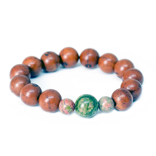 Unakite Dragon Eye Wrist Mala Bracelet - Global Groove