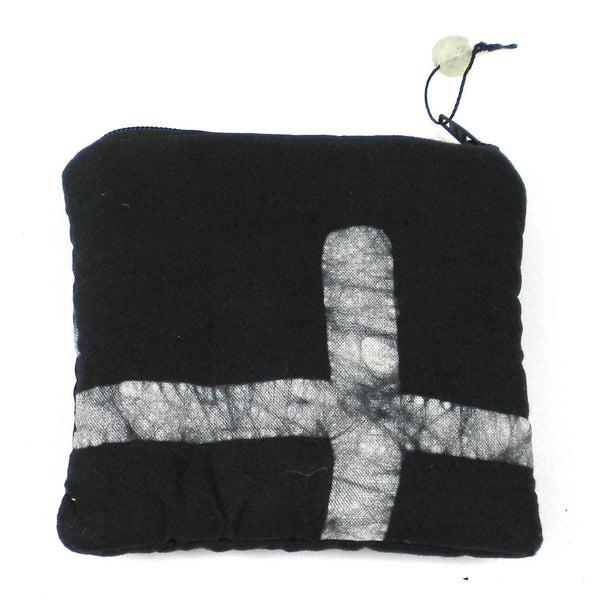 Batiked Coin Purse - Black